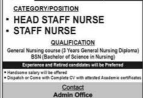 Hospital DHQ Hospital Faisalabad Latest Jobs 2021 as Staff NurseJobs- DHQ Hospital Faisalabad Latest Jobs 2021 as Staff Nurse