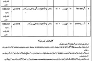 Senior Civil Judge Mianwali Latest Jobs 2021 as Tameel Kuninda / Mali / Water Carrier