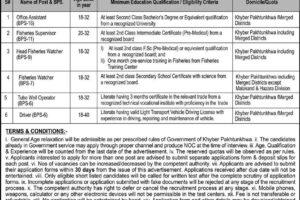 Directorate General Of Fisheries Peshawar ATS Latest Jobs 2021