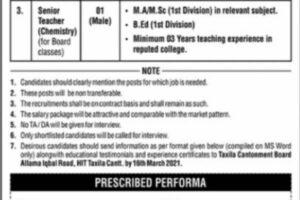 Cantt Public School Taxila Latest Jobs 2021 | Download Form