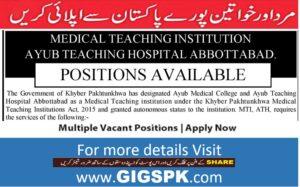 MTI Ayub Teaching Hospital Abbottabad Latest Jobs