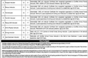 Punjab Emergency Service Rescue 1122 Latest Jobs PTS