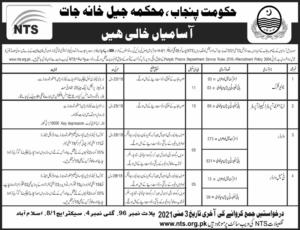 Prison Department Punjab Latest NTS Jobs 2021