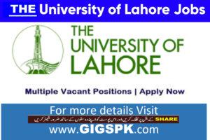 The University of Lahore Latest Punjab Jobs 2021