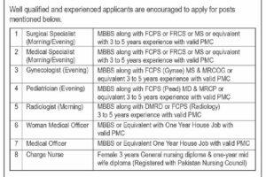 Mumtaz Bakhtawar Hospital MBH Latest Jobs 2021 Lahore